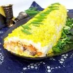 Salat ruletom 150x150 Слоеный салат с огурцами и сыром