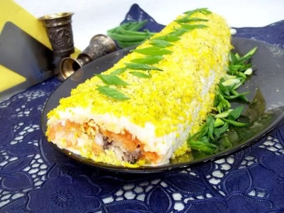 Salat ruletom Салат рулетом