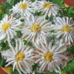 Salat sloyami s gribami Romashka 150x150 Винегрет с консервированными грибами и фасолью