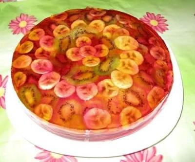 Tort zheleyno biskvitnyiy    Nezhnost strasti   Торт желейно бисквитный « Нежность страсти»