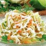 Kartofelnyiy postnyiy salat s chernoy redkoy 150x150 Слоеный салат с зеленым горошком «Фламинго»