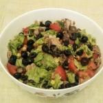 Salat syitnyiy s tuntsom i gribami 150x150 Винегрет с консервированными грибами и фасолью