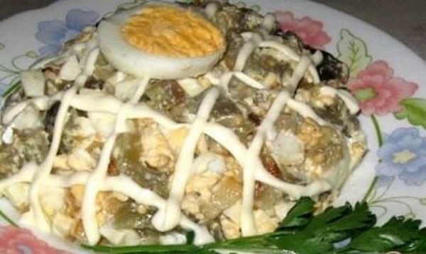 Salat Neobyichnyiy iz baklazhan Салат Необычный из баклажан