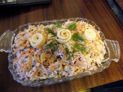 Salat myasnoy   Koyash   Салат мясной «Кояш»
