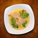 Delikatesnyiy sup iz telyachih mozgov 150x150 Суп грибной с перловкой и зеленью