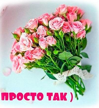 Darim tsvetyi prosto tak Дарим цветы просто так!